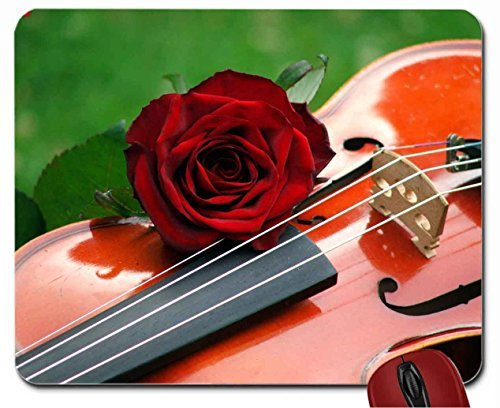 violin-with-rose-mouse-pad-computer-mousepad