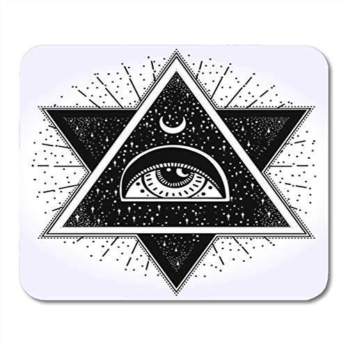 "Preisvergleich Produktbild HOTNING Gaming Mauspads All Seeing Eye is on The Crossing of Two Traingles with Starnight Sky in Each New 11.8""x 9.8"" Decor Office Computer Accessories Nonslip Rubber Backing Mousepad Mouse Mat"
