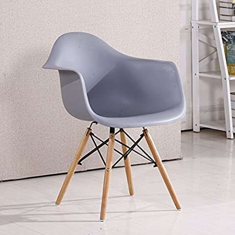 Sedia Eames sedie di plastica di stile moderno minimalista sgabello Poltrona scrivania Home Computer sedia sedia per il tempo libero gli imballaggi grigio