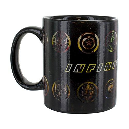 Paladone Products Ltd. Marvel Avengers Thermoeffekt Tasse Infinity, Keramik, Mehrfarbig, 10 x 11 x 11 cm, 2