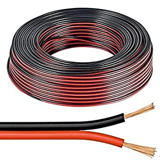 electrosmart 10m Red/Black 2x 1mm 2x 89 Strand Speaker Cable Wire for Home HiFi/Car Audio etc