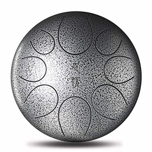 YC electronics- Steel Tongue Drum Mini Strumento Musicale a percussione a percussione Professionale in Acciaio a 11 Toni con Timpano in Acciaio Tamburi a Mano (Color : C, Dimensione : 12inch 8tone)
