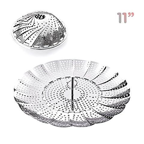Kinashi Panier vapeur inox (28cm/11