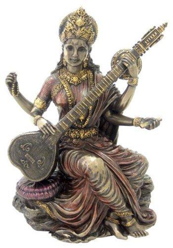ttin Sarasvati Spielen Vina Statue Skulptur Figur Sarasvati ( ()