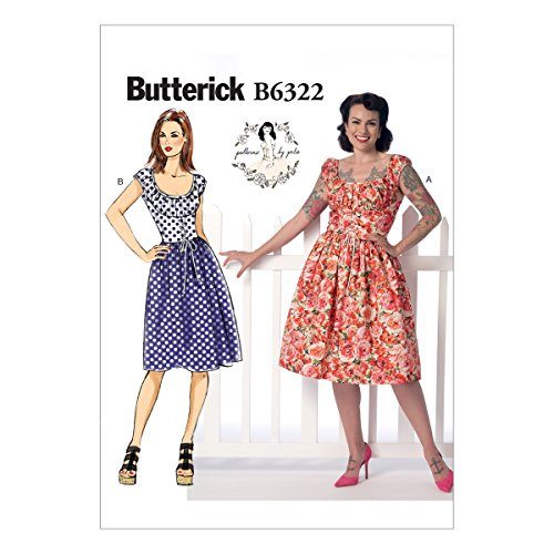 Butterick Patterns B6322 Misses' Ruched Corset-Style Dress, Size E5 (14-16-18-20-22) by BUTTERICK PATTERNS
