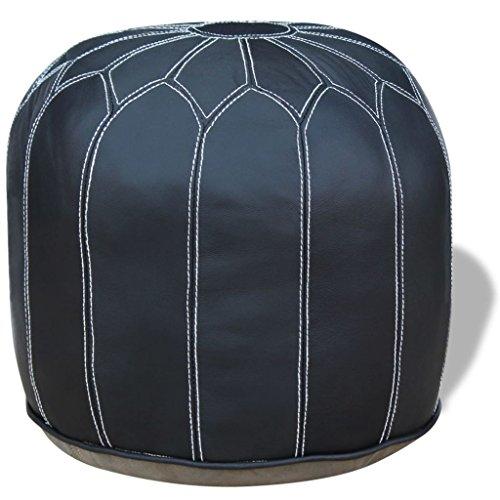 lingjiushopping Sitzsack rund ECHT Leder grau 48x 48x 38cm Farbe: Grau Material: Leder Echtleder