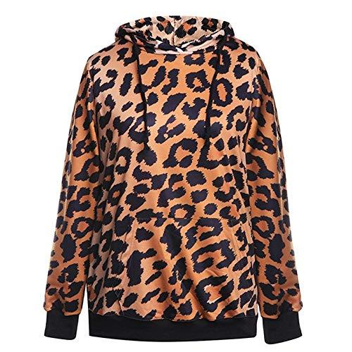 YZFZYLW Frauen Sweatshirt Leopard Gedruckt Hoodies Sweatshirt Weiblichen -