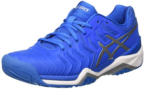 Asics Herren Gel-Resolution 7 Tennisschuhe, Blau (Directoire Blue/Silver/White), 44 EU