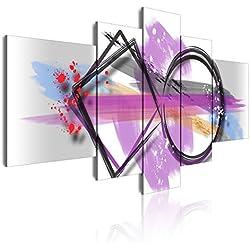 DekoArte Cuadro Moderno, Estilo Abstracto Geométrico, Tela, Multicolor, 180x3x85 cm