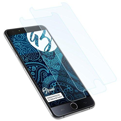 Bruni Schutzfolie kompatibel mit Ulefone Be Touch 3 Folie, glasklare Bildschirmschutzfolie (2X)