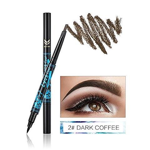 BOBORA Double-end of Eyebrow Pencil Eye Liner Makeup 5 Color + 2 In3 of Long Duration Eyes Waterproof Eyebrow Kit Cosmetic Make Up
