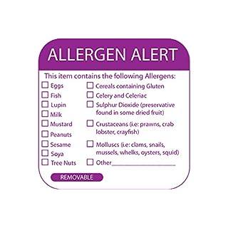 Allergen Alert Labels - Roll of 500 by Key Catering Solutions Ltd