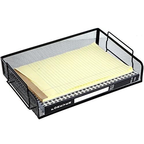 Drahtgeflecht stapelbar Prospektfächer, Büro Datei Ordner Buchstabe Rack, schwarz
