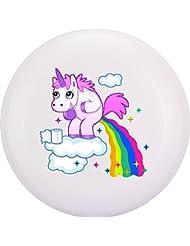 Eurodisc Frisbee in plastica biologica, motivo unicorno e nuvole bianche, 175 g 4.0