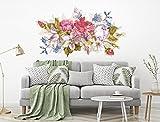 I-love-Wandtattoo WAS-12705 Florales Aquarell Wandtattoo