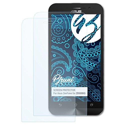 Bruni Schutzfolie kompatibel mit Asus ZenFone Go ZB500KG Folie, glasklare Bildschirmschutzfolie (2X)