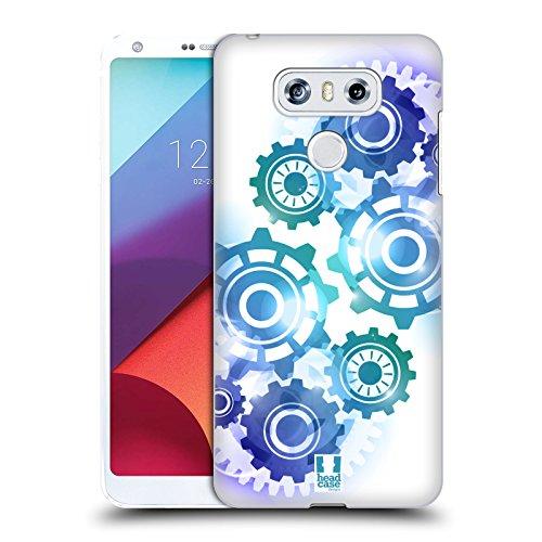 Head Case Designs Muster Getriebe Ruckseite Hülle für LG G6/G6 Dual (Getriebe Muster)