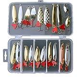 Clode® Fishing Bait, Enjoy Outside Time 20pcs Metal Fishing Lures Bass Spoon Crank Bait Saltwater Tackle Hooks