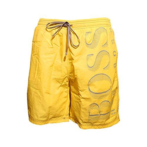 HUGO BOSS NEU BADESHORTS Killifish gelb yello rot red Badehose Boxer Shorts Bermuda 730 gelb yellow