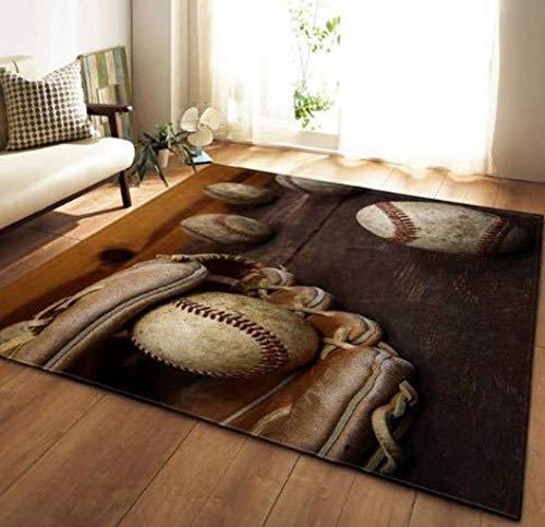 3d Hd-Drucktechnologie, Traditioneller Haltbarer Teppich QualitäT Traditionelles Klassisches Design Weichen Modernen Design Teppich Schlafzimmer Esszimmer Wohnbereich Teppich, Baseball-Stil -