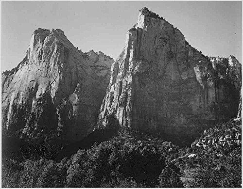 Das Museum Outlet-Adams-Court der Patriarchen, Zion National Park Utah-A3Poster Druck