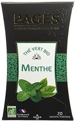 Pagès Thé Vert Menthe Bio 20 sachets - Lot de 2