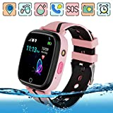 Kids GPS Smart Watch Phone Step Pedometer Tracker Anti-lost Touch Screen Chat Voice