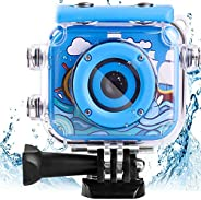 AMERTEER Waterproof Kids Camera with 2.0 Inch LCD Display 12MP Photo Resolution & 1080P Video Resolution U