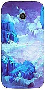 Snoogg Crystal Earth Case Cover For Motorola E / Moto E
