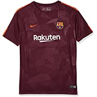 nike Fc Barcelona 3 Jr 17-18 Camiseta, Niños, Burdeos Naranja, 13-15 Años