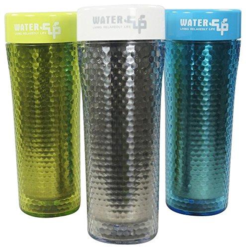 NAGO Thermobecher, Getränkebecher, Reisebecher, Kaffeebecher 3er Set silber, grün, blau