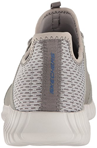 Skechers Elite Flex, Baskets Enfiler Homme gris/bleu