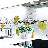 Küchenrückwand Frucht Wasser Premium Hart-PVC 0,4 mm selbstklebend 220x60cm