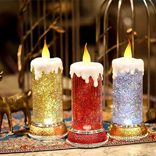 Veilleuses Bougie Lumière De Nuit De Noël,Red