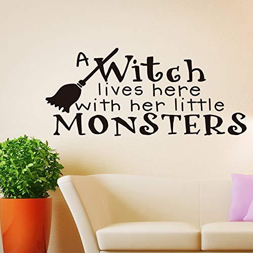 (Halloween dekorative wandaufkleber besen englisch wohnzimmer schlafzimmer hintergrund wandaufkleber benutzerdefinierte großhandel entfernbar)