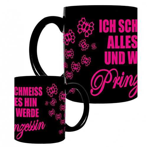 Tasse Kaffeebecher Prinzessin PINK