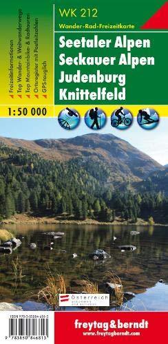 Freytag Berndt Wanderkarten, WK 212, Seetaler Alpen, Seckauer Alpen, Judenburg, Knittelfeld, GPS, UTM - Maßstab 1:50 000