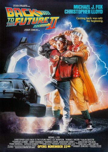 Classic Back To The Future Part 2 Michael J Fox Movie Film A3 Poster