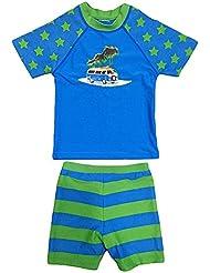 SurfitBoys'Star Camper short et maillot à manches courtes-Femme-Bleu/Vert-Taille L (6–7 ans