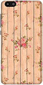 The Racoon Lean Beige Flower Wood hard plastic printed back case / cover for Huawei Honor 4X
