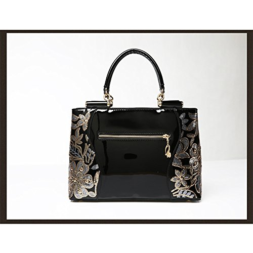 ANNE Borsa Da Donna In Pelle Di Brevetto Gold