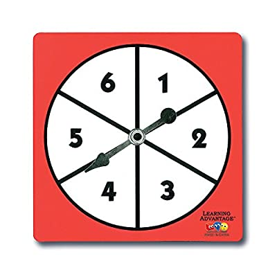 1-6 Number Spinners by LEARNING ADVANTAGE