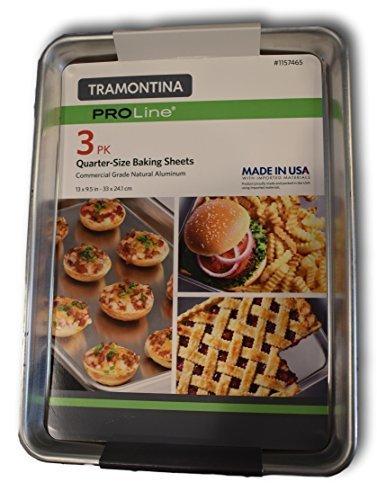 Tramontina PROLine 3 Stück Backen Blatt (33 x 24,1 cm)  Commercial-Restaurant Grade