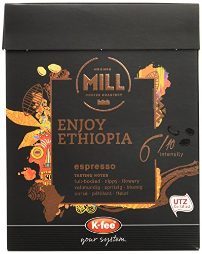 Mr & Mrs Mill Kaffeekapseln Enjoy Ethiopia Espresso, Stärke 6, K-fee System, 6er Pack (6 x 930 g)