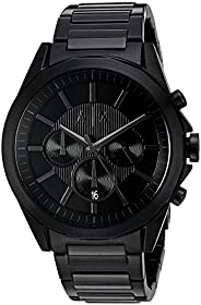 Armani Exchange Mens Quartz Watch, Chronograph Display and Stainless Steel Strap, AX2601, Black