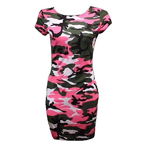Blush Avenue Damen Midikleid Kleid * Gr. 36, Pink Camo