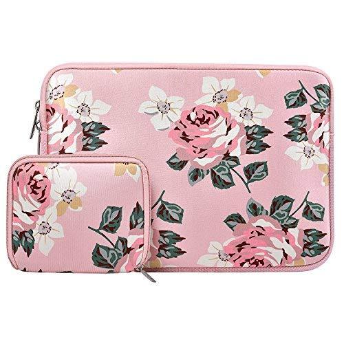 Mosiso Wasserfest Lycra H & # 252; lle Sleeve Hülle Laptop & # 252; lle schutzh & # 252; lle Laptop Tasche mit kleinen Fall 13 pulgadas Rosa Pink