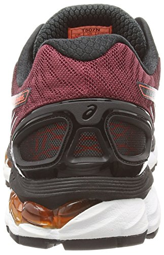 Asics Gel-nimbus 17, Herren Laufschuhe Schwarz (Black/Hot Orange/Deep Ruby 9030)