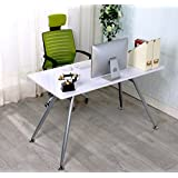 White ANGELO High Gloss Computer Home Executive Study Office Workstation Desk