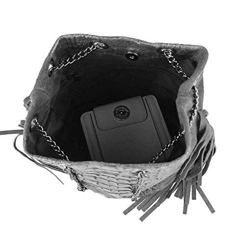 OBC Only-Beautiful-Couture, Poschette giorno donna Marrone Dunkelbraun/Moro 26x22x15 cm (BxHxT) grigio